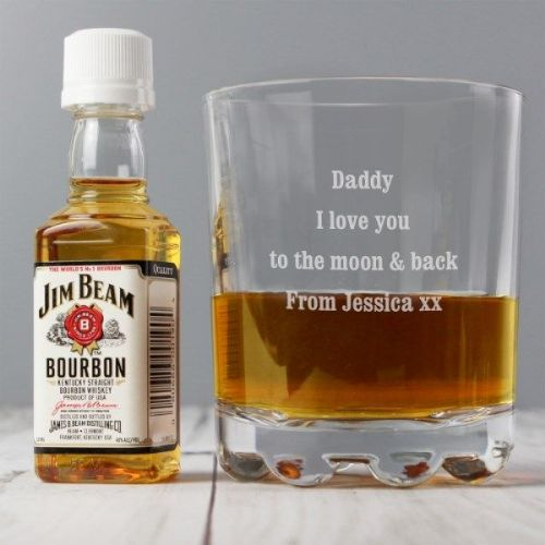 Tumbler and Jim Beam Miniature Set